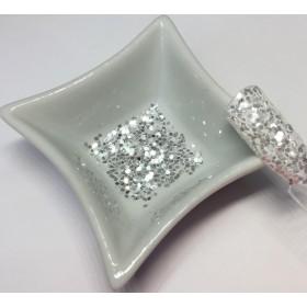 Glitter Coton White Silver