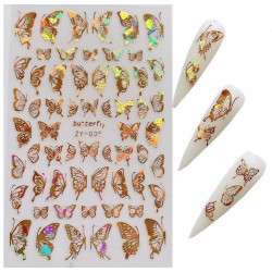 Stickers Papillons 35 Or