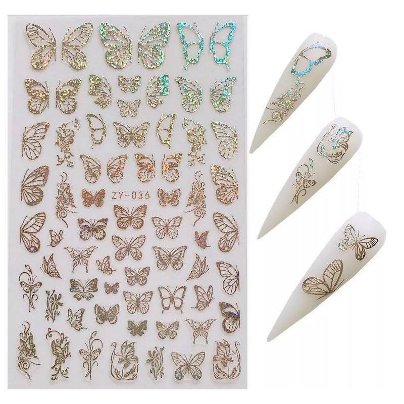Stickers Papillons 36 Argent